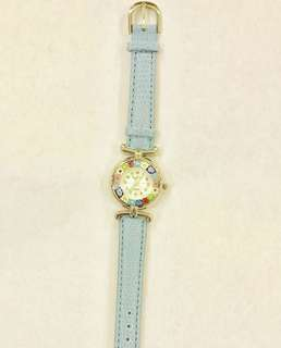 Authentic baby blue Murano Watch