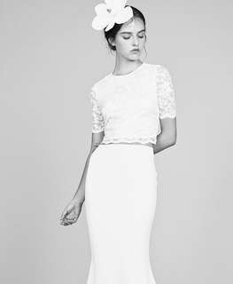 Vaingloriousyou white blouse and skirt