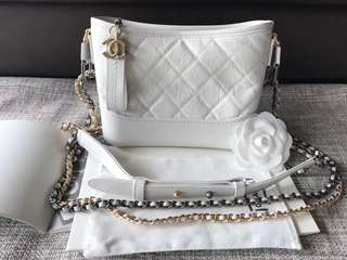 Chanel Limited Edition White Gabrielle Hobo Bag (Just look at the price without looking at quality.Please bypass,Tq)