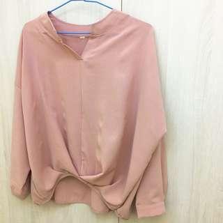 🚚 (全新)好氣色春粉襯衫