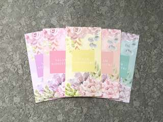 5pcs Naelofar 2018 floral raya packet / sampul raya