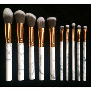 10 PCS MARBLE BRUSH SET