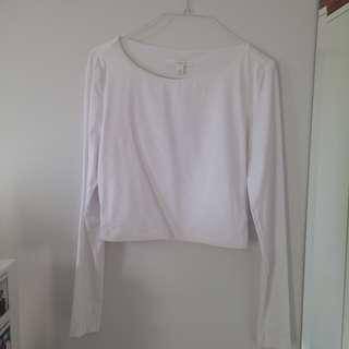 Kookai cropped long sleeve top