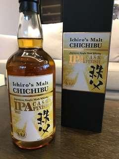 Ichiro's Malt 秩父 Chichibu IPA Cask Finish Bottled 2017
