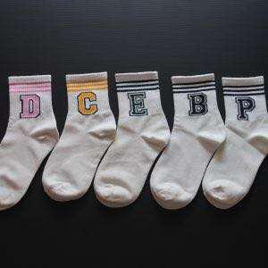 Cute Alphabet Socks -Instocks