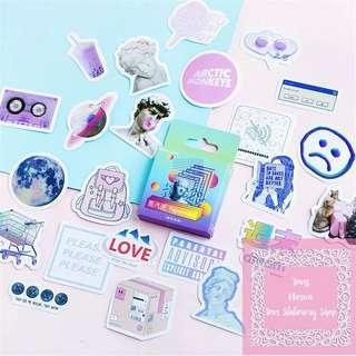 46pcs Vaporwave Labels Sticker Pack