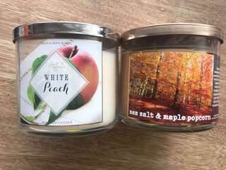 New body and bath candles