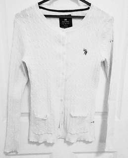 Authentic Polo Club White Cardigan