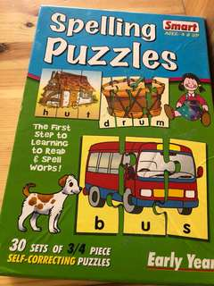 Preloved spelling jigsaw puzzle