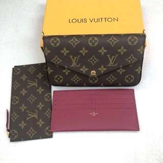 Louis Vuitton 3 In 1 POCHETTE FÉLICIE Wallet (Just look at the price without looking at quality.Please bypass,Tq)