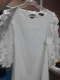 SALE!!! White Korean Blouse
