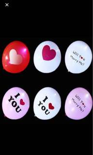 LED Balloons! For Proposal and Wedding!