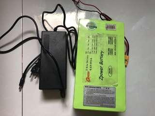 52v 15.6AH external battery + 2A Charger