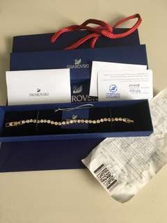 Authentic Swarovski Tennis Bracelet Rose Gold
