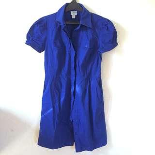 Dress kerja biru / blue Worthington