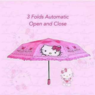 HELLO KITTY AUTOMATIC FOLDABLE UMBRELLA
