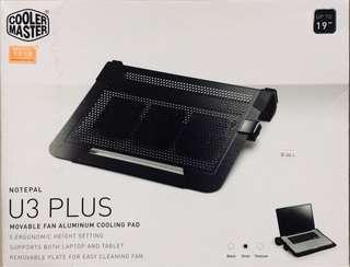 Cooler Master U3 Plus Movable Fan aluminium cooling pad