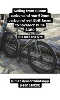 Carbon wheelset front 50mm rear 60mm