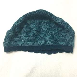 H&M Blue Knitted Beret Hat
