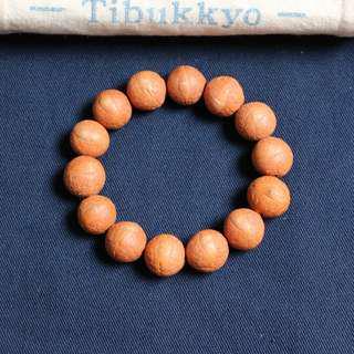 Tibukkyo德榕藏品 尼泊爾精品皮色皮質 鳳眼菩提 14mm圓珠 手珠型 藏傳佛教 宗教藝品 菩提子