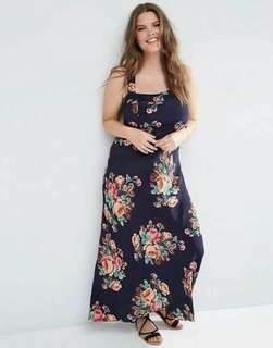 Sexy cross back maxi dress plus size!