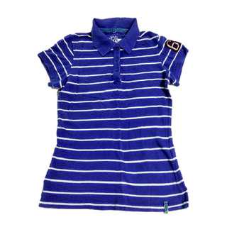 Voir Jeans Royal Blue Striped Polo Tee Size M#EVERYTHING18