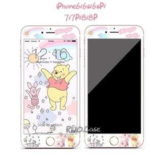 太陽版Winnie the Pooh軟邊玻璃保護貼