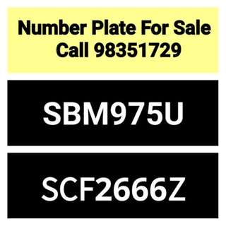 Car number plate (28 years old) for sale - call 98351729 or 96365990
