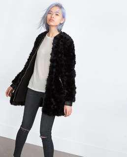 Zara Black Faux Fur