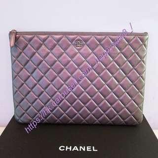 Chanel NEW bag clutch purple 全新紫色袋