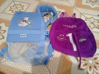Baby carrier and original barney bag