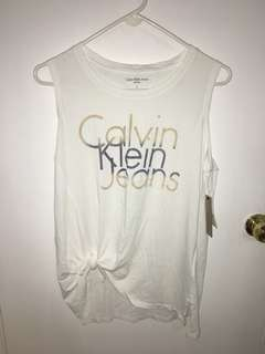 Calvin Klein white wash tank