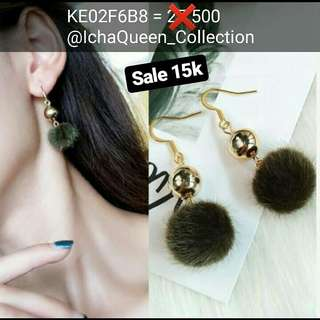 Anting PomPom Small (promo lebaran)