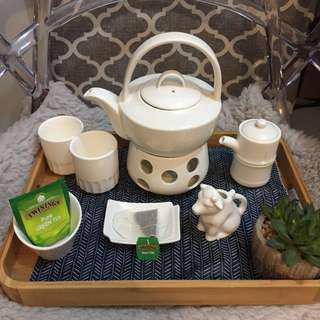 🍵Classy Tea set w/warmer
