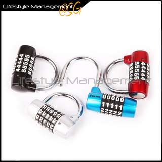 4/5-Combination Lock/Padlock for Gym/Sports/Locker/Cabinet/Gate/Bicycle Chain