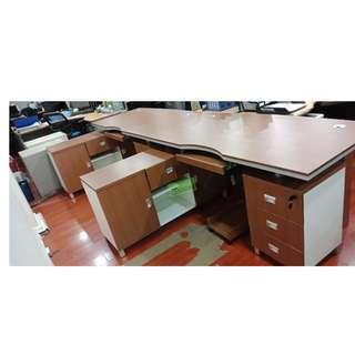 ET-OFT SERIES L-TYPE EXECUTIVE TABLE 160x80x76cm--KHOMI
