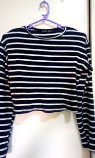 SALE!! Cropped Sweater in Stripes