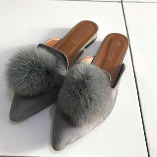 fur ball mules