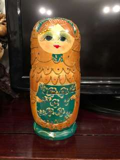 Hand painted stacking Russian dolls