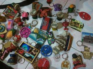 Keychains, Fridge Magnet from Cambodia, Sabah, Sarawak, New Zealand, London, Indonesia, Cameron Highlands, Terengganu, Penang