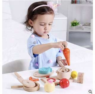 Korean Wooden Kitchen Cutting Toy