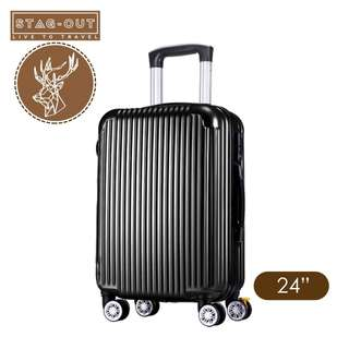 """[Stag-Out] Pacific Ultralight ABS HardCase 24"""" Luggage Bag Suitcase (Mystery Black)"""