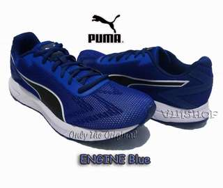 Sepatu PUMA ENGINE, Blue Depth/Black/White. 18951406. Men. Running. 100%Original