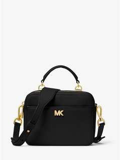 Michael Kors Mott Mini Pebbled Leather Crossbody - black