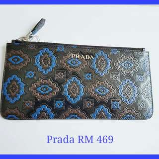 Prada Spazzolato Small Pouch/Coin Purse