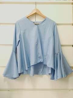 Flare Sleeve v neck blouse