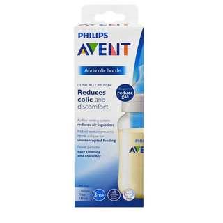 Philips Avent, Anti-Colic Bottle, 3 + Months, 1 Wide-Neck Bottle, 11 oz (330 ml)