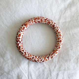 Orange faux terrazzo bangle
