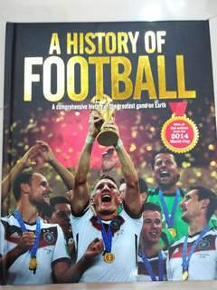 The World Cup history football hard cover book