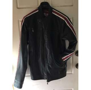 Leather Look Sports Jacket - Mens